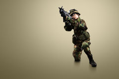 NATO soldier. royalty free stock photo