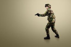 NATO soldier. Royalty Free Stock Images