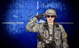 Nato soldier stock illustration