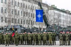 NATO soldiers at military ceremony. The North Atlantic Treaty Organization, also called the North Atlantic Alliance, is an intergovernmental military alliance stock images