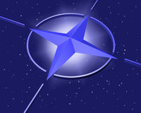 NATO star symbol Royalty Free Stock Image