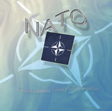 NATO symbols. The symbol of NATO - The North Atlantic Treaty Organization Royalty Free Stock Image