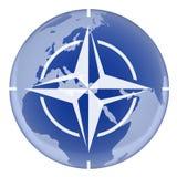 NATO und Erde Stockfotografie