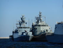 NATO warships. Artistic look in vivid colours. Stock Image