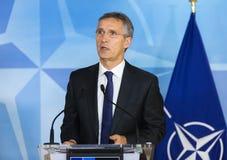 NATO-WSKA sekretarka - generał Jens Stoltenberg Obrazy Stock