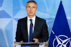 NATO-WSKA sekretarka - generał Jens Stoltenberg Zdjęcia Royalty Free