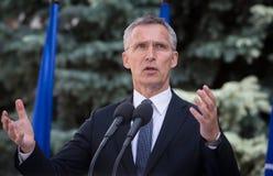 NATO-WSKA sekretarka - generał Jens Stoltenberg Obraz Royalty Free