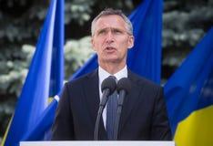 NATO-WSKA sekretarka - generał Jens Stoltenberg Fotografia Stock