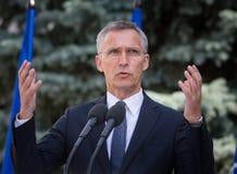 NATO-WSKA sekretarka - generał Jens Stoltenberg Zdjęcie Stock