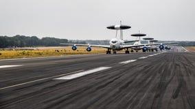 NATO-WSKI Boeing E-3 Sentry AWACS radaru samolot Fotografia Stock