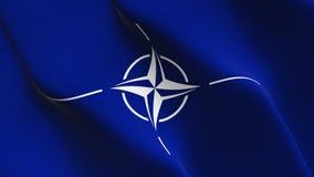 NATO-WSKI chorągwiany falowanie na wiatrze ilustracja wektor