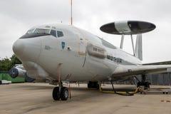 NATO-WSKI E3 Sentry radarowej kopuły samolot Zdjęcia Stock