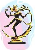 Natraja staty stock illustrationer