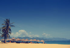 Natrang beach in vietnam vintage effect Stock Image