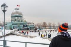 Natrel Łyżwiarski lodowisko w Montreal zdjęcia royalty free