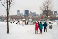 Natrel Łyżwiarski lodowisko w Montreal obrazy royalty free