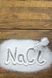 Natrium-chloride - Zout Royalty-vrije Stock Fotografie