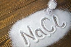 Natriumchlorid - Salz stockfotografie
