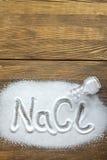 Natriumchlorid - Salz Lizenzfreie Stockfotografie