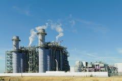 Εγκαταστάσεις παραγωγής ενέργειας αερίου Natrual Στοκ Εικόνες