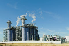 Natrual gas power plant Stock Images