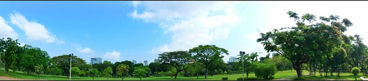 Natrue de panorama en parc de Lumphini Image stock