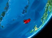 Natt över Island Royaltyfria Bilder