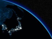Natt över Japan vektor illustrationer