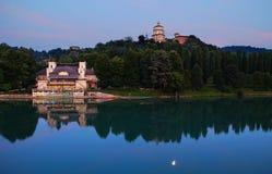 Natt över Turin Royaltyfri Fotografi