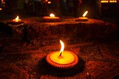 Natt av levande ljus fotografering för bildbyråer
