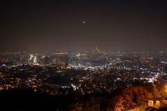 Natt av Seoul Arkivfoton
