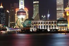 Natt av Shanghai Arkivfoton