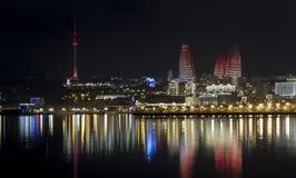 Natt Baku Royaltyfria Foton