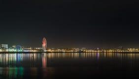 Natt Baku Arkivfoto