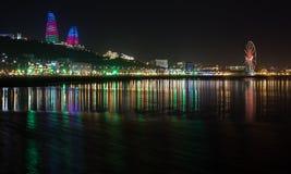 Natt Baku Royaltyfri Foto