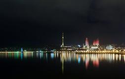 Natt Baku Fotografering för Bildbyråer