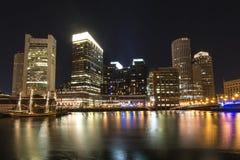 Natt Boston Arkivbilder