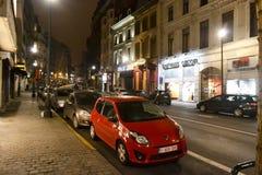 Natt Bryssel Royaltyfri Fotografi