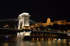 Natt Budapest Royaltyfri Bild