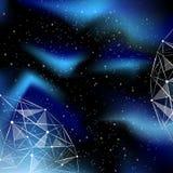 Natt djup himmel Arkivbild