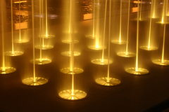 natt för 2 springbrunnar Royaltyfri Bild