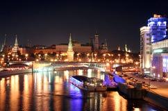 natt för 6 moscow Arkivfoto