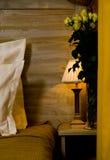 natt för bedsidelampa Royaltyfri Foto