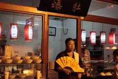 natt för beijing matmarknad Royaltyfri Fotografi