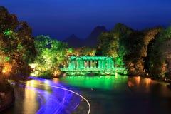 natt för crystal exponeringsglas för bro Royaltyfria Bilder