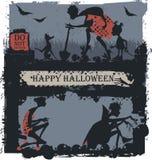 natt för halloween illustrationmoon Fotografering för Bildbyråer