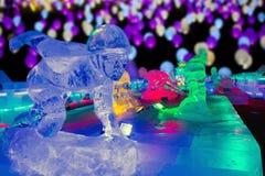 Natt för isskulptur, Peking arkivbilder