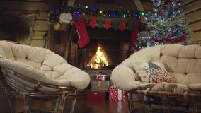 Natt för jul stock video