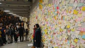 Natt för rensning på paraplyrevolutionen - Amiralitetet, Hong Kong Royaltyfria Bilder