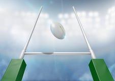 Natt för rugbystolpeomvandling Royaltyfria Bilder